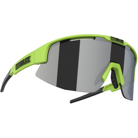 Bliz Matrix M12 Brille matt lime green/smoke with silver mirror